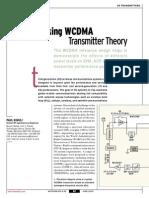 [MWRF0306] Tracking WCDMA Transmitter Theory