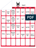 Tapout XT Schedule Month 3