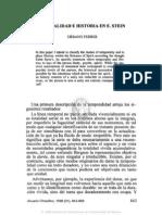 8. Temporalidad e Historia en e. Stein, Urbano Ferrer