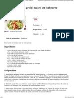 Recette Salade de poulet grillé, sauce au babeurre - Coup de Pouce