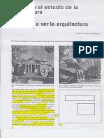 Iniciación al estudio de la arquitectura