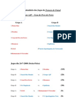 Grupos e Calendário dos Jogos do Torneio de Futsal 2009