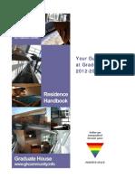 Graduate House Residence Handbook 2012 2013