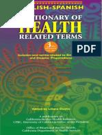 English-spanish Health Related Dictionary
