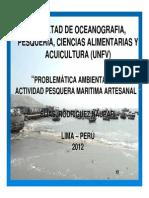 Problematica ambiental de la actividad Pesquera Artesanal