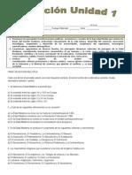 Evaluación Unidad 1 Historia y Geografía
