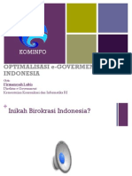 Optimalisasi eGovernment Di Indonesia - Kemenkominfo