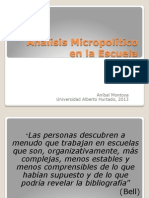 Analisis Micropolítico en la Escuela