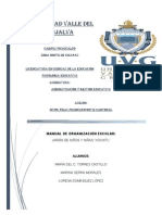 Manual de Organizacion Escolar