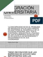 Integración universitaria
