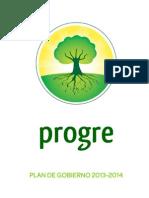 Plan de Gobierno Progre 2013-2014
