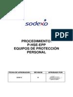 P-HSE-EPP Equipos de protección personal. Rev. 01