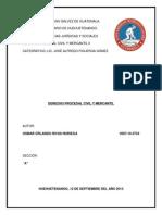 Derecho Procesal Civil (Trabajo)