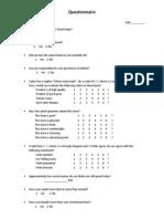 Questionnaire & Observation Sheet