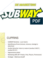 Plan de Marketing -SUBWAY