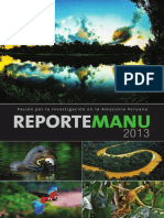 Reporte Manu 2013 Pasi%C3%B3n Por La Investigaci%C3%B3n en La Amazonia Peruana