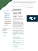Hub Transoprt configure