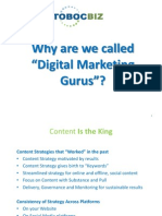 "Why are we called the ""Digital Marketing Gurus"""