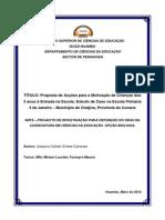 Ante-Projecto - Joaquina Camosso -Novo Tema