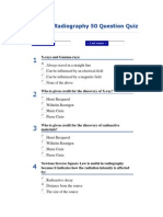 Radiography 50 Question Quiz