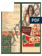 The Nawab Restaurant's Pizza Menu