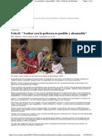 Unicef acabar con la Pobreza