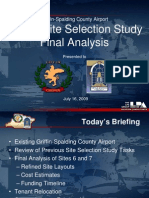 Airport Site Selection Study Final Analysis
