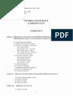 Tematica Si Bibliografia La TGD