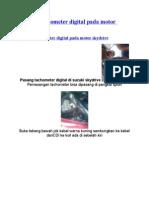 Aplikasi Tachometer Digital Pada Motor Skydrive