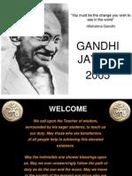 Gandhi Jayanti - Sunday - Final