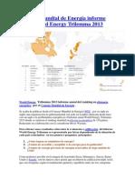 Informe anual World Energy Trilemma 2013 del Consejo Mundial de Energía