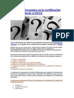 Preguntas en la certificación energética desde el IDAE