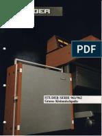 STUDER 961-962 Serie Grosse Kleinmischpulte Ed0988 Small
