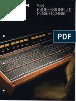 STUDER 963 Professionelle Regietechnik Ed0390 Small