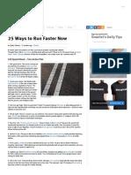 25 Ways to Run Faster