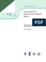 Proceedings of the Twelfth Executive Committee Meeting