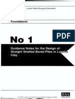 London District Surveyors Association Guidance Note 1 London Clay Piles