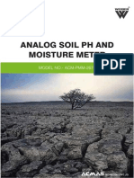 Analog Soil pH and Moisture Meter