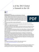 Declaration of the 2013 Global Universities Summit to the G8