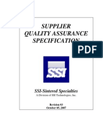 Supplier Quality Assessment
