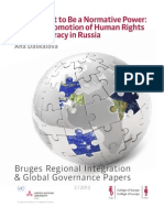 EU Democracy Promotion in Russia