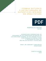 Allgayer - Formas Naturais e Estruturacao de Superficies Minimas Em Arquitetura