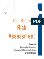 Your Role in Risk Assessment