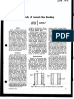 A Study of Cement-pipe Bond