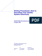 How 2 Document Quality Systems