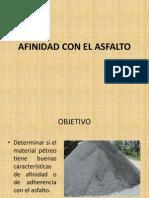 Afinidad el asfalto