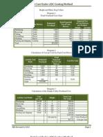 Unit Cost Under ABC Costing Method