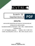 Boletín N° 38 de AACyTAL, Septiembre 2012