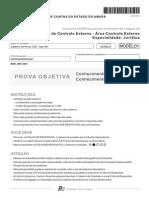 Fcc 2012 Tce AP Analista de Controle Externo Controle Externo Juridica Prova