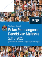 Pelan Pembangunan Pendidikan Malaysia (Ringkasan Eksekutif)